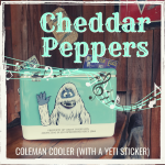 Cheddar Peppers - Coleman Cooler (With a Yeti Sticker)